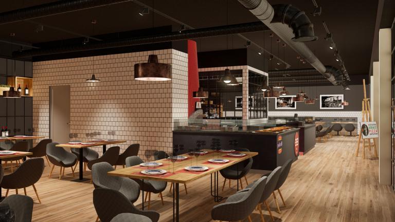 Simulazione immersiva ristorante